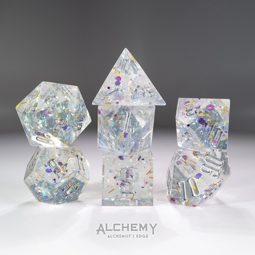 7pc Alchemist's Edge Purple Fragments by Alchemy Dice