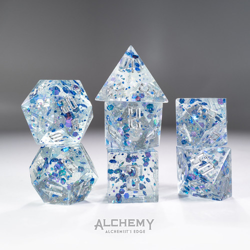 7pc Alchemist's Edge Blue Fragments by Alchemy Dice