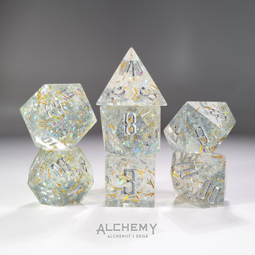 7pc Alchemist's Edge Gold Fragments by Alchemy Dice