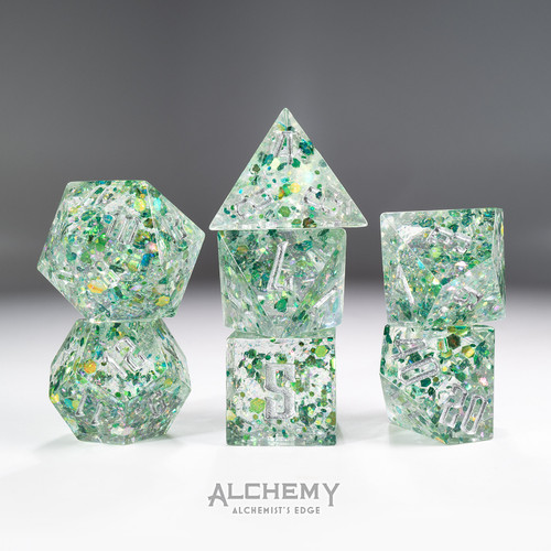 7pc Alchemist's Edge Green Fragments by Alchemy Dic