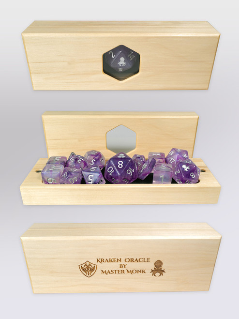 Kraken's Oracle Aspen Dice Vault by Master Monk