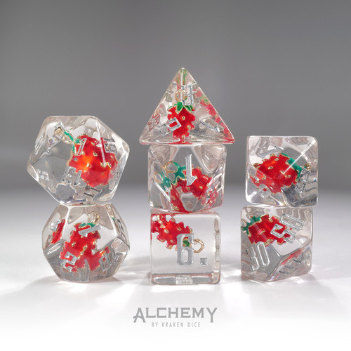 7pc Strawberry by Alchemy Dice