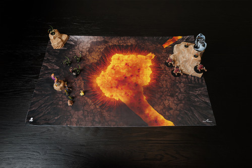 Kraken Dice RPG Encounter Map Quick Mat- Volcano by MapHammer
