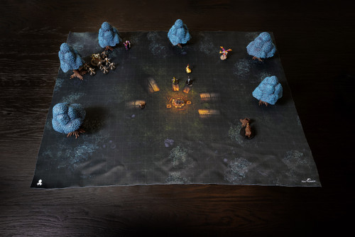 Kraken Dice Quick Mat- Forest Campsite by MapHammer