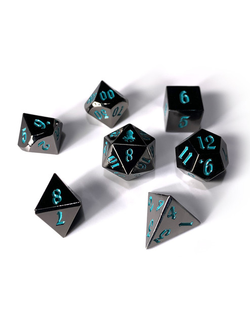 Mini Mariner's Dark Rite 10mm Metal Dice Set for RPGS