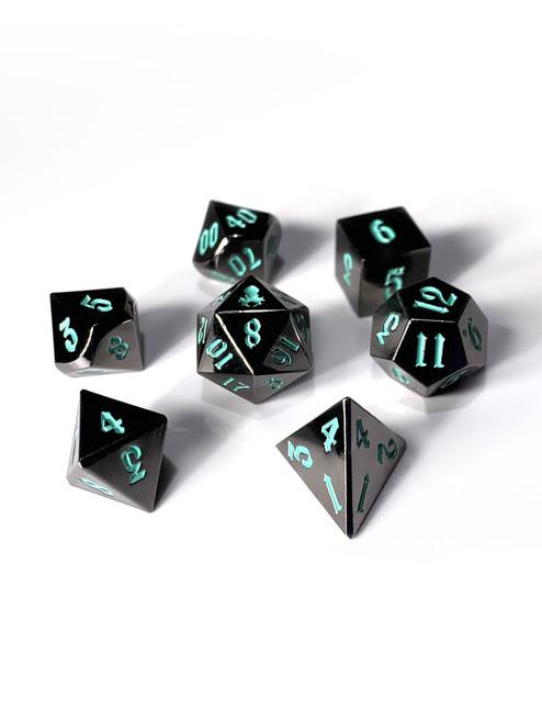 Mini Kraken's Dark Rite 10mm Metal Dice Set for RPGS