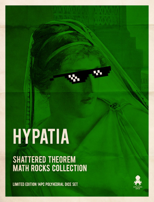 Hypatia: Shattered Theorem 14pc Limited Edition Polyhedral Dice Set