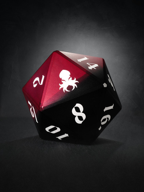 Vulcan: Blood Knight 75mm Black and Red Precision Aluminum Single D20