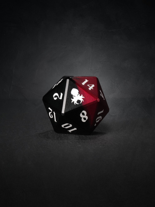 Vulcan: Blood Knight 30mm Black and Red Precision Aluminum Single D20