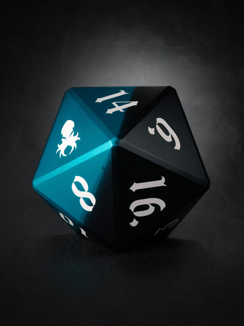 Vulcan: Azure Knight 75mm Black and Blue Precision Aluminum Single D20