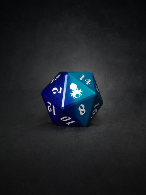 Vulcan: Dragon Knight 30mm Blue and Purple  Precision Aluminum Single D20