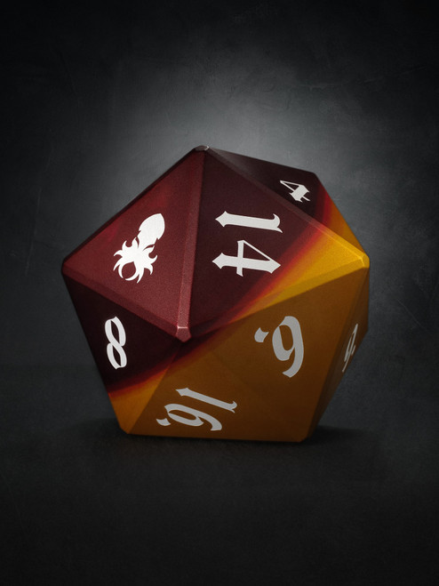 Vulcan: Rust Knight 75mm Orange and Red Precision Aluminum Single D20