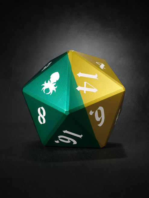 Vulcan: Sylvan Knight 75mm Green and Yellow  Precision Aluminum Single D20