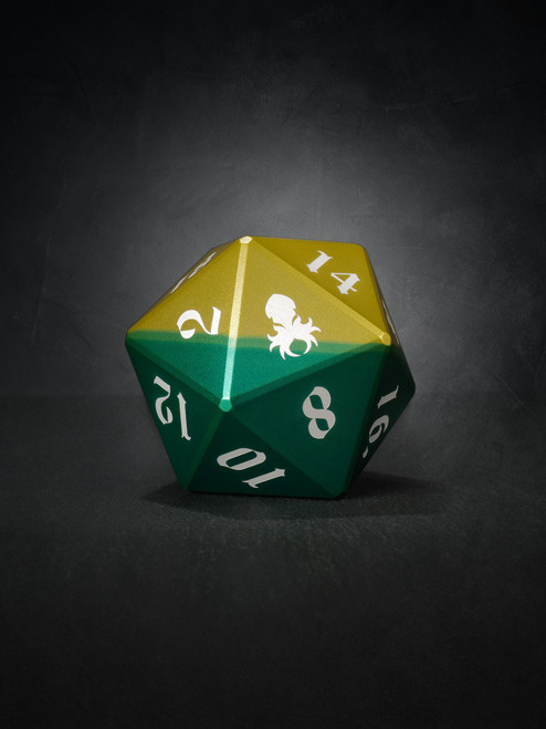 Vulcan: Sylvan Knight 50mm Green and Yellow  Precision Aluminum Single D20