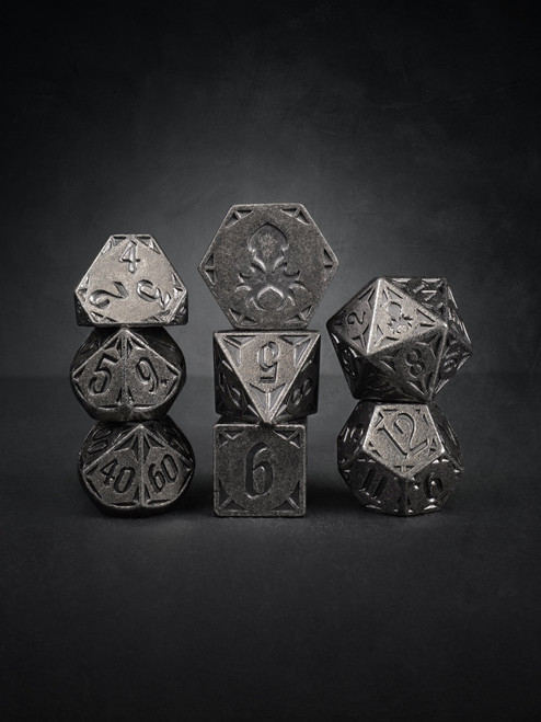 Rite of Steel 8pc TTRPG Dice Set