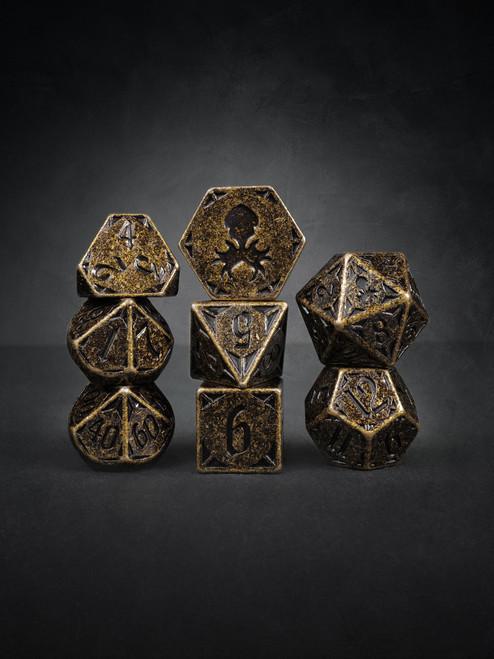 Rite of Brass 8pc TTRPG Dice Set