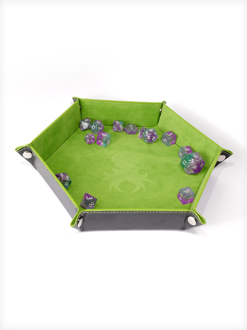 Collapsible Kraken Dice Tray Green and Black