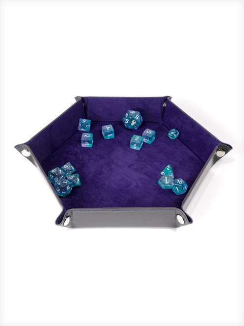 Collapsible Kraken Dice Tray Purple and Black