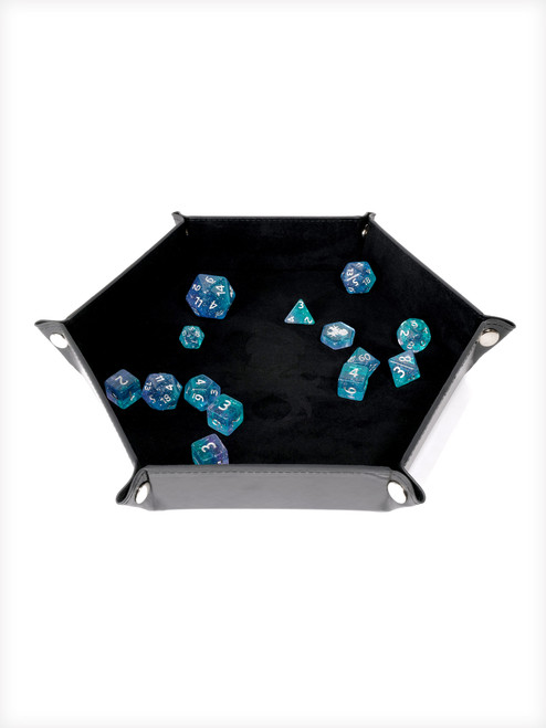 Collapsible Kraken Dice Tray Black and Black