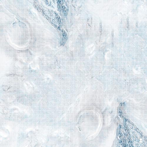 """Kraken Dice RPG Encounter Map Quick Mat- Frozen Snow Field 36""""x36"""""""