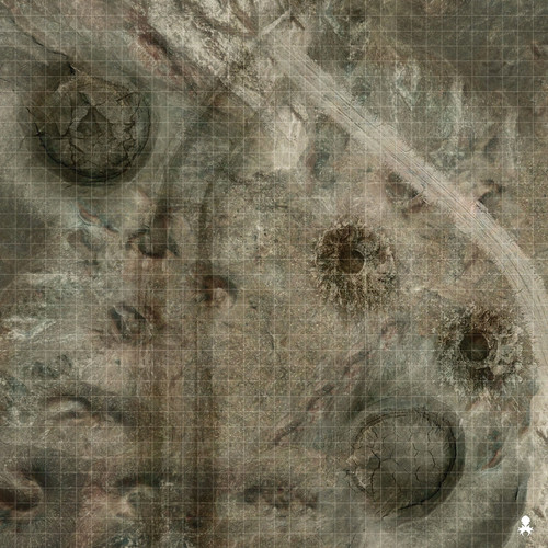"Kraken Dice RPG Encounter Map Quick Mat- Barren Wasteland 36""x36"""