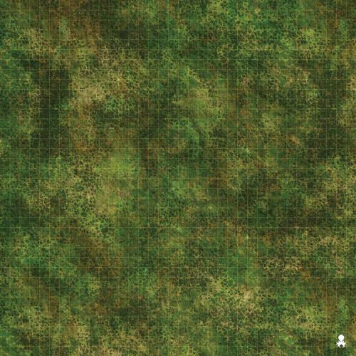 """Kraken Dice RPG Encounter Map Quick Mat- Grassy Forest Battlefield 36""""x36"""""""