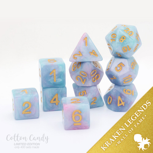 Cotton Candy 10pc Dice Set