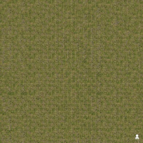 """Kraken Dice RPG Encounter Map Quick Mat- Grass Field 36""""x36"""""""