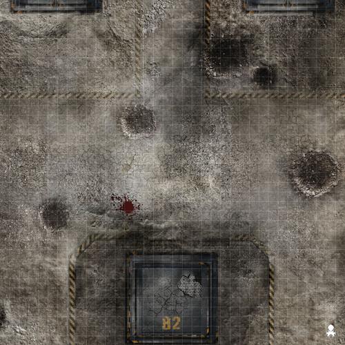 "Kraken Dice RPG Encounter Map Quick Mat- Battle Zone 36""x36"""