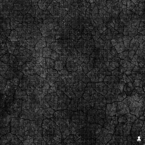 "Kraken Dice RPG Encounter Map Quick Mat- Cracked Asphalt 36""x36"""