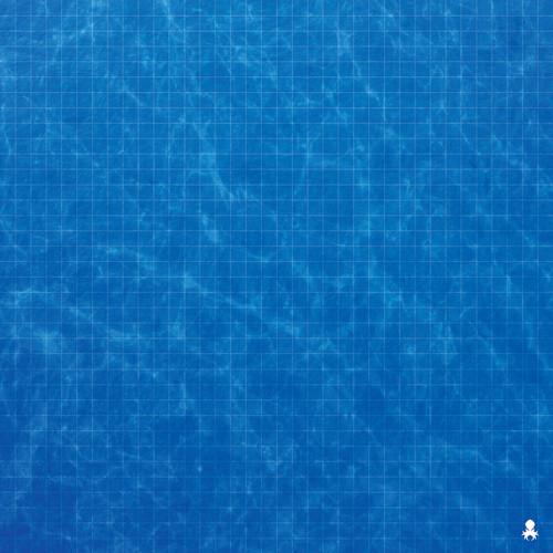 "Kraken Dice RPG Encounter Map Quick Mat- Blue Sea 36""x36"""