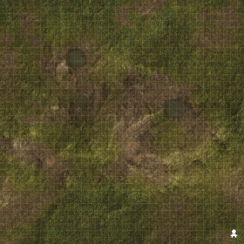 "Kraken Dice RPG Encounter Map Quick Mat- Muddy Ground 36""x36"""