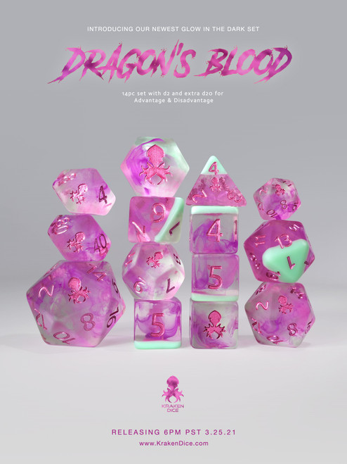 Dragon's BLood: Lava Lamp 14pc Limited Edition Dice Set