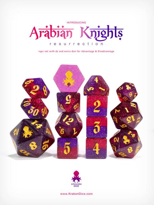 Arabian Knights: Resurrection 14pc TTRPG Dice Set