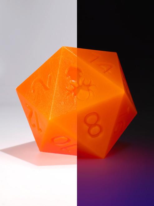 RAW 55mm Glow in the Dark Orange D20