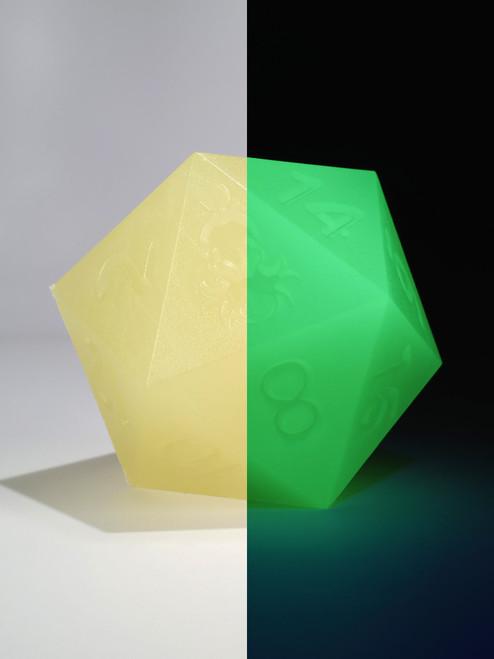 RAW 55mm Glow in the Dark Yellow D20