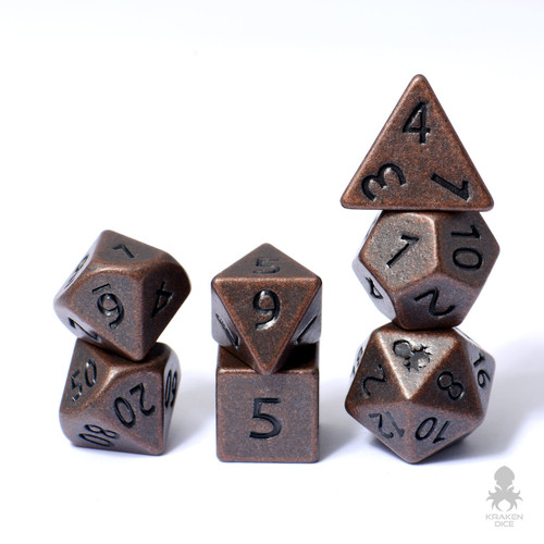 Mini Dwarven Copper 10mm Metal Dice Set