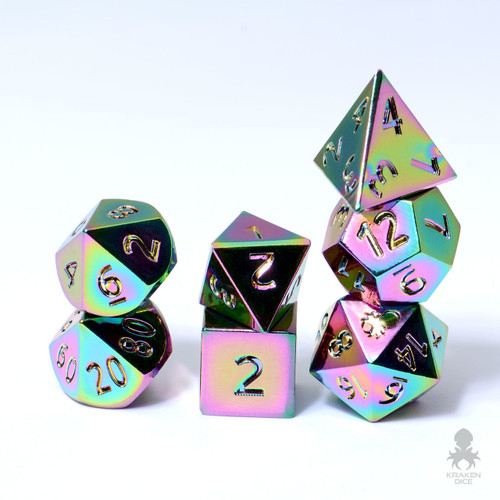 Mini Trial By Fire 10mm Metal Dice Set