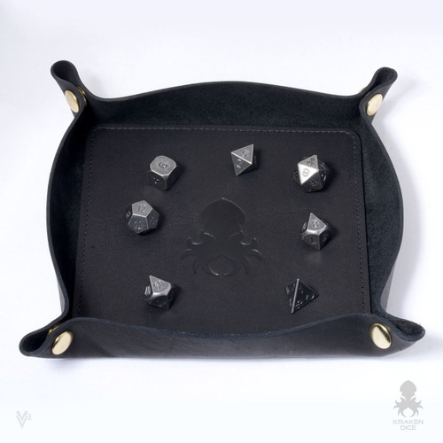 Leather Dice Tray In Black