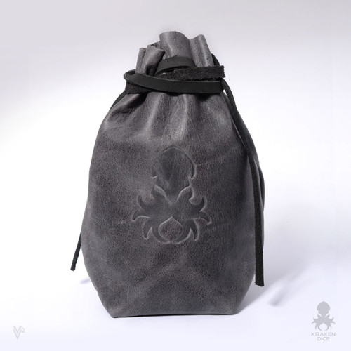 Freestanding Large Dice Bag In Old World Leather