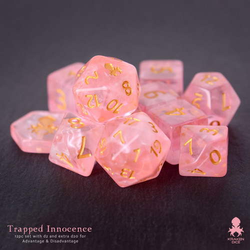 Trapped Innocence 12pc DnD Dice Set With Kraken Logo