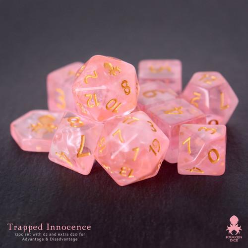 Trapped Innocence 14pc DnD Dice Set With Kraken Logo
