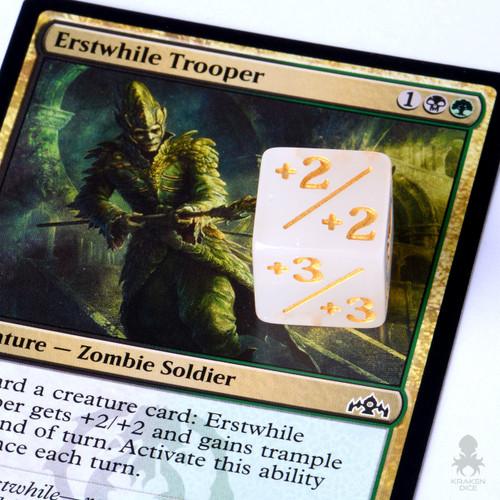Kraken Logo MTG 6pk Token Counter Dice / Positive Dice Counters for Magic: The Gathering