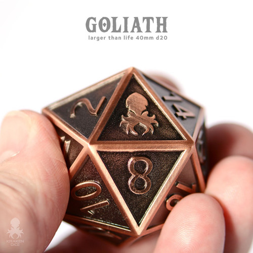 Copper Goliath 40mm single D20