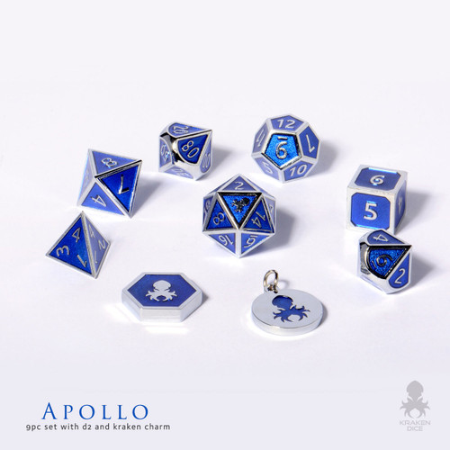 Apollo metal dice for D&D