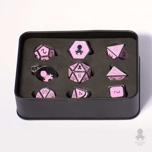 Lotus Eaters metal dice set for D&D
