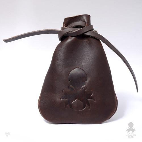 Medium Dice Bag In Brown Leather