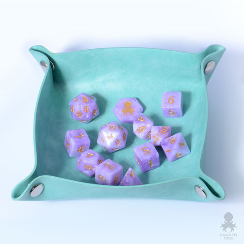 Kraken Skin Dice Tray In Teal