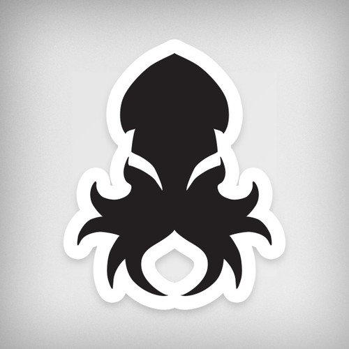 Kraken Logo Black Sticker