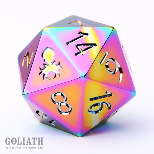 40mm Trial by Fire single D20 Goliath